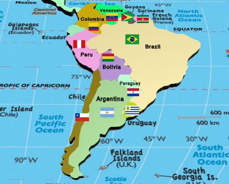 Latin America South America Map.Best Volunteer Vacations Trips In Latin America